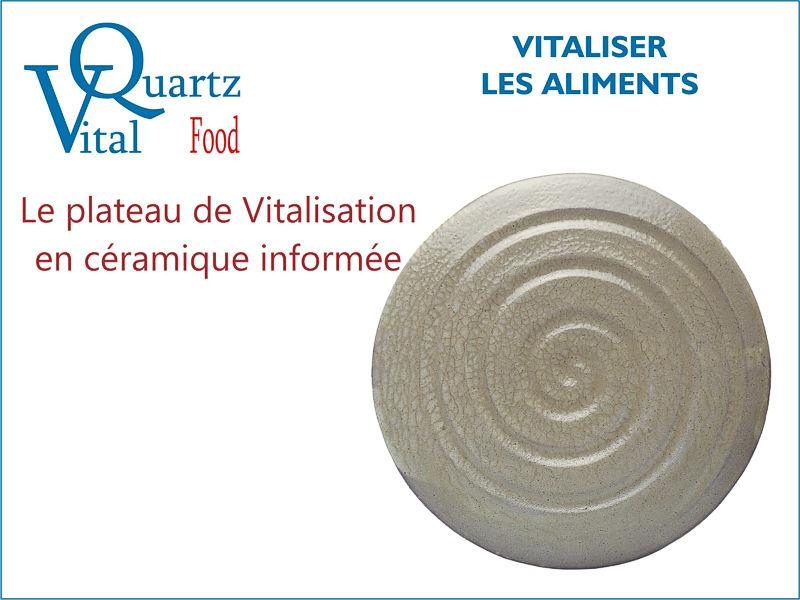 Plateau de vitalisation des aliments VitalQuartz Food.