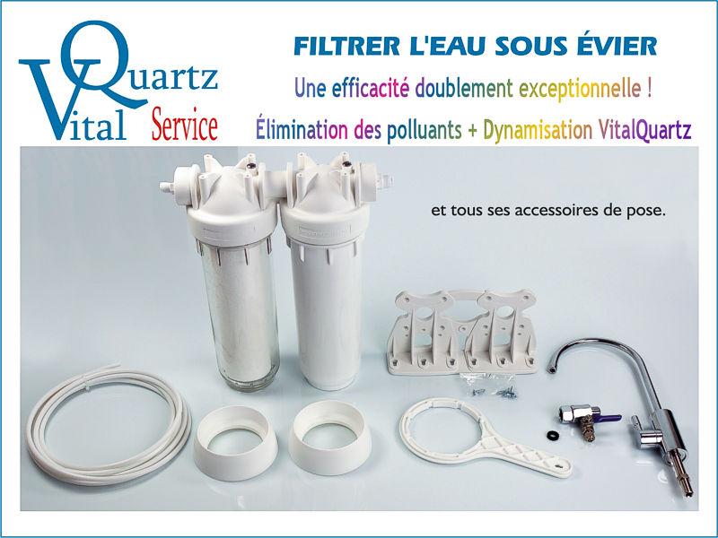 VitalQuartz Service pour filtrer l'eau sous l'évier.