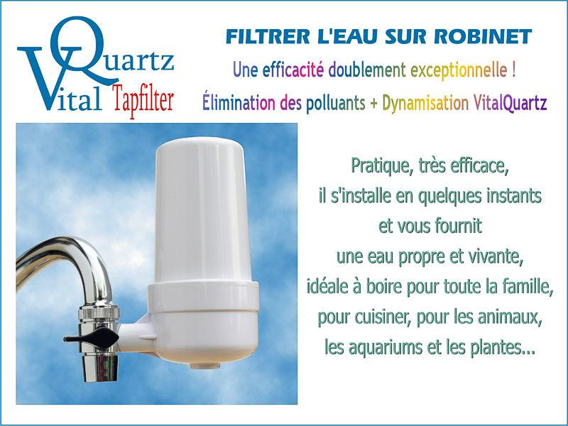 Filtrer l'eau sur robinet